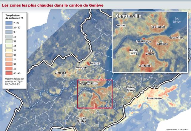 Carte des points chauds du Grand Genève